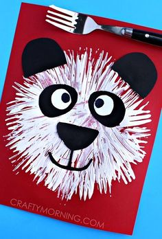cute-fork-print-panda-bear-kids-craft-