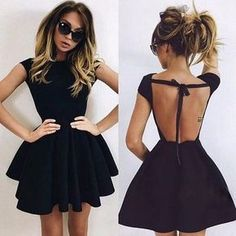 Homecoming Dresses,Black Homecoming Dresses,Backless Homecoming Dresses,Short Prom Dresses DESCRIPTION This dress could be custom made, there are no extra cost to do custom size and color. Dresses Short, Dresses For Less, Pretty Dresses, Sexy Dresses, Beautiful Dresses, Backless Dresses, Spring Formal Dresses, Ladies Dresses, Mini Dresses