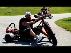 ▶ Motorized Drift Trike - SFD Industries - YouTube   Really the only difference between men and boys is only the price of their toys.  Nothing funner than drifting on that edge of being out of control, but keeping control from those things that make you bloody.  We like to succeed more than fail by pressing that limit so we know where it is.