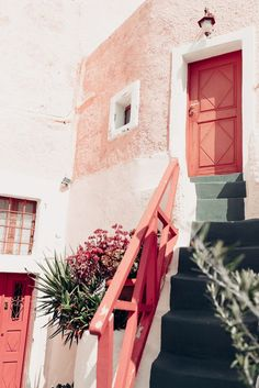 Weekend in Santorini - Aspyn Ovard Oh The Places You'll Go, Places To Travel, Beautiful World, Beautiful Places, Destinations, Exterior, Adventure Is Out There, Architecture, Adventure Travel