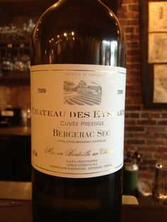 Chateau des Eyssards 2009 Bergerac Sec (FR) ~ A blend of 40% Sauvignon Blanc, 30% Sémillon & 30% Muscadelle from Bergerac, just east of Bordeaux, this is a beautiful & unique wine.  Golden in hue, with a full lush body & lots of floral notes from the richness of the Muscadelle grape.  Lingering on the finish is a hint of dry nutmeg spice.  From start to finish it is a gorgeous wine to drink!