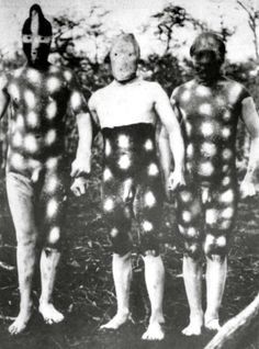 Costumes for Hain, Selk'nam (original Patagonian population) male initiation