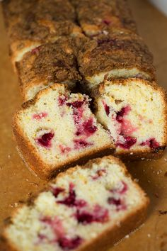 Cranberry orange loaf is an easy make-ahead breakfast to have for overnight guests! Recipe on tablefortwoblog.com