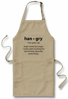 ARE YOU HANGRY  funny barbeque or kitchen apron by MeHangry