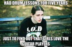 Too bad.. #drummer #guitar #band #largeforfun