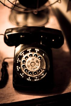 "vintage, rotary phone, fan, sepia, photography - ""Rotations"""