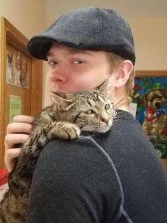 Went to the shelter to visit the cat we're adopting. Met this little lady who took quite a liking to my fiancé. http://ift.tt/2rPnvmK