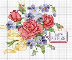 Schema punto croce Rose belle