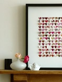 I have been meaning to make framed heart art.