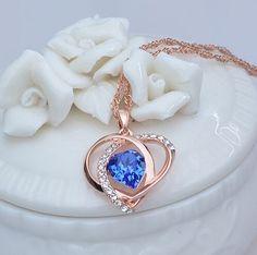 Multi-Color Heart Pendant Necklace