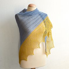 I love this gorgeous shawl. I'd do it in Storm + Saffron from  Yarn Love.