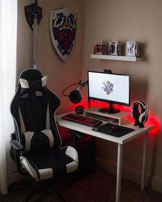 Gaming Desk Setup, Computer Gaming Room, Best Gaming Setup, Gaming Rooms, Pc Setup, Gaming Desk Small, Funny Computer, Computer Setup, Computer Technology