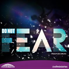 No matter what situation you find yourself in, you do not have to fear evil. The writer of this Psalm says that God is with him; that is why he will not have to fear evil. This also applies to us. In fact, not only is God with us, but because we are born again in Jesus Christ, God is in us. So we do not have to fear evil and we can be comforted. #CCC #EIFMinistries #DailyDevotions #Psalm #Christian #Jesus #BornAgain #Love #Free #Fear #Amen