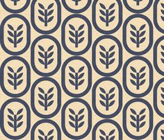 wheat copenhagen navy fabric by holli_zollinger on Spoonflower - custom fabric