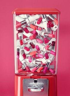 Lipstick vending machine
