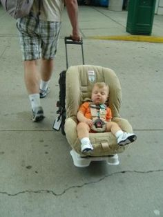 Bricas Roll N Go Car Seat Transporter Converts Your Seats Into An Airport Stroller Within Minutes And Gives You