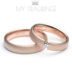 Trauringe, Rotgold, Hochzeitsringe, Eheringe, Freundschaftsringe, Andere Oberfläche machbar 4 mm x 1.6 mm Pforzheimer jewelery goods Interior cambered - exterior cambered wedding ring in 333 au 8K red rose pink gold needs a fine silk matte stardust finish