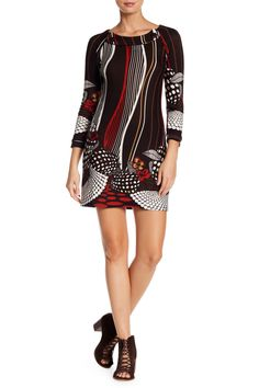 Printed Sweater Dress