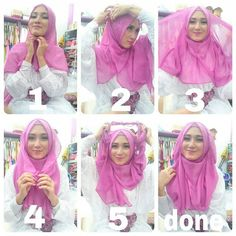 This is an easy and casual hijab tutorial you can wear for any day, it doesn't require much time neither complicated steps, get your hands ready and follow the steps below: 1. Place the width of the hijab on your…