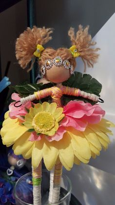 Blonde pink yellow Hair and hair band! Fairy Crafts, Doll Crafts, Diy And Crafts, Crafts For Kids, Wood Peg Dolls, Clothespin Dolls, Mellow Yellow, Pink Yellow, Yellow Hair