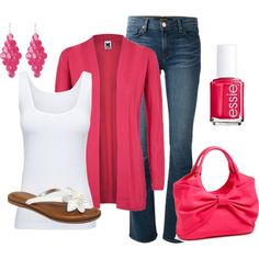 """""""Strawberries & Cream"""" by maggie478 on Polyvore"""