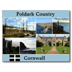 Poldark Country Cornwall Photograph Collage Postcard #poldarkcountry