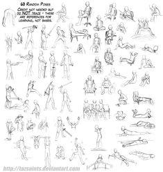 63 Random Poses by *tazsaints on deviantART