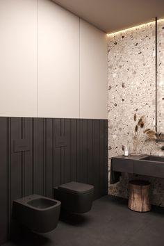 Contemporary Bathroom Designs, Bathroom Design Luxury, Modern Bathroom, Interior Design Presentation, White Interior Design, Baths Interior, Restroom Design, Accent Wall Bedroom, Toilet Design