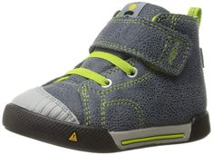 KEEN Encanto Scout High Top Sneaker (Toddler), Black/Macaw, 7 M US Toddler: Durable leather upper Adjustable hook-and-loop closure for easy on, easy off Padded tongue for comfort Mesh lining for breathability Boys Running Shoes, Boys Shoes, Kids Sneakers, High Top Sneakers, Fashion Boots, Sneakers Fashion, Girls Shoes Online, Baskets, Basket Mode