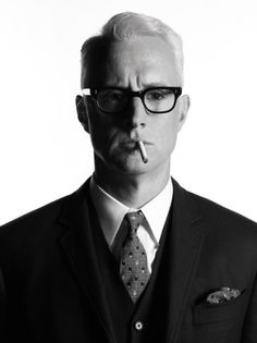 """John Slattery...he's sexy in the """"white-haired 1960s advertising executive"""" kind of way. :)"""