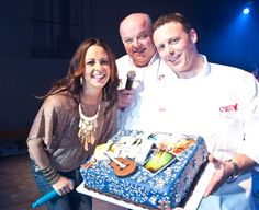 Joey & Mauro with Sara Evans at the 2012 Superbowl!