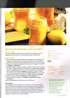 Mermelada de Limón, Miel y Gengibre. Thermomix
