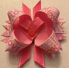 Handmade Heart Love Inspired Boutique Style Girls Hair Bow pink heart Barrette | Clothing, Shoes & Accessories, Kids' Clothing, Shoes & Accs, Girls' Accessories | eBay!