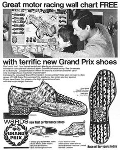 Wards Grand Prix Shoes Ad 1968 by combomphotos, via Flickr