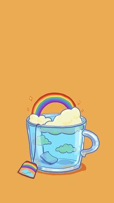 Uyoo — [ Wallpaper of Cup Illustrations Series ] (Phone. phone Uyoo — [ Wallpaper of Cup Illustrations Series ] (Phone. Cartoon Wallpaper, Wallpaper Tumblr Lockscreen, Kawaii Wallpaper, Wallpaper Pc, Pastel Wallpaper, Aesthetic Iphone Wallpaper, Aesthetic Wallpapers, Wallpaper Samsung, Drawing Wallpaper