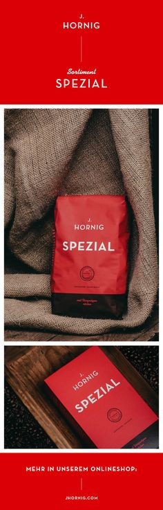 Die guten Sachen ändern sich nie - unser J. Hornig Spezial.   #design #packaging #package #coffee #coffeepackage #kaffeepackung #packagingdesign Corporate Design, Shops, Coffee, Drinks, Bags, Typographic Logo, Kaffee, Drinking, Handbags