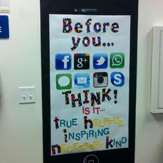 Great classroom idea! Don't be mean behind the screen.Character Traits: Kindness