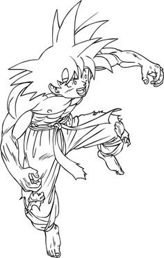 Cool Dragon Ball Z Free Coloring Pages Trunks