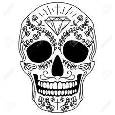 Resultado de imagen para calavera mexicana vector