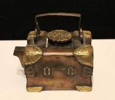 Xuande treasure chest teapot, bronze