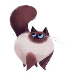 CyBeRGaTa - Cats, Memes, New Mexico — dailycatdrawings: 404: Himalayan