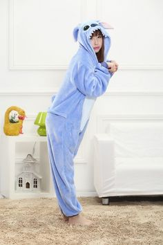 Animal Stitch Onesie Adulto Adolescentes Pijamas Kigurumi Pijamas Engraçado Flanela Quente Macio Geral Onepiece Noite Casa Macacão Comic Con Cosplay, Animal Costumes, Family Halloween Costumes, Book Week, Love Mom, Christmas Pajamas, Complete Outfits, Pyjamas, Rain Jacket