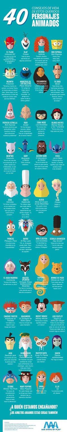 40 consejos de vida de estos queridos personajes animados.  #frases #citas #emociones #consejos #reflexiones #filosofia #mentepositiva #estima #amor #actitud #pensamientos
