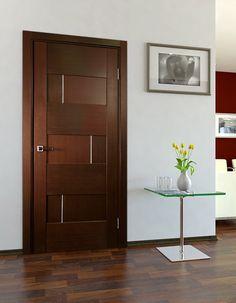 Dominika Interior Door Wenge Finish - Modern Home Luxury Bedroom Door Design, Door Design Interior, Bedroom Doors, Craftsman Interior, Flush Door Design, Modern Wooden Doors, Wooden Door Design, Wood Doors, Modern Door