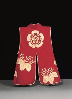 Japan, Velvet Jinbaori (Surcoat) with Mokkō and Paulownia Mon (Insignia) Edo period, late 16th century. Wool
