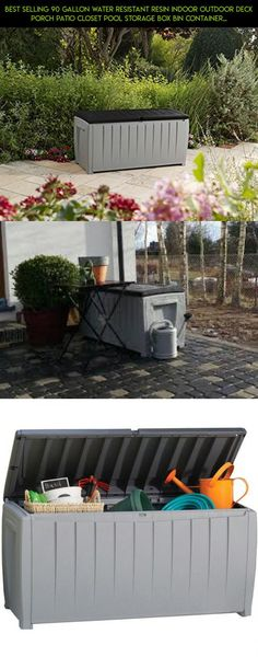 Best Selling 90 Gallon Water Resistant Resin Indoor Outdoor Deck Porch Patio Closet Pool Storage Box Bin Container Organizer- Roomy With Flip Top Lid Lightweight Durable Portable- Super Versatile #camera #technology #shopping #racing #plans #storage #prod