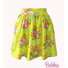 $65.00 Custom Skirt in Valentina Yellow by Bobkin on Handmade Australia