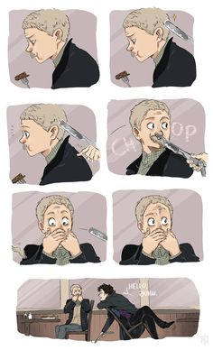 Not Dead <-- thanks for getting rid of the mournstache sherlock we've all been asking john to shave it anyway