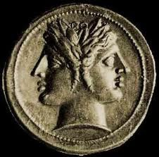 3 - Roman god Janus - Isumud, Enki's vizier, the month of January was named by the Romans after their god named Janus, the Mesopotamian god looking forwards & backwards at the same time