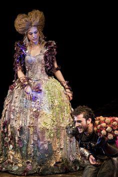 l'Illusione teatrale at Teatro India, Rome - costumes designed by students of Accademia di Costume e di Moda I characters: Isabella and Matamoro
